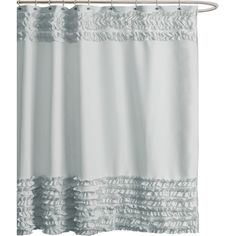 Refresh your master bath or guest suite with this chic shower curtain, showcasing cascades of handcrafted ruffles. Product: Show...