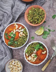 Carrot and Red Lentil Curry with Broccoli Rice