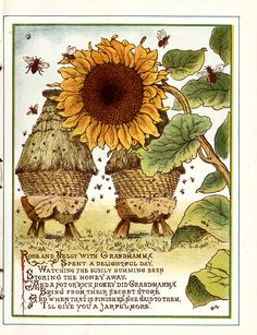 "From ""Sunny hours and pretty flowers"" by Mabel Dearmer, illustrated by George Lambert; published by Dean & Son (1887)"