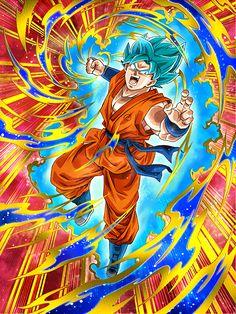 """[Cyan Juggernaut] Super Saiyan God Super Saiyan Goku """"I never thought I'd ever get this strong!"""""""