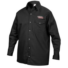 Lincoln Electric Black Welding Shirt at Lowe's. Lincoln Electric premium black welding shirt offers welders comfort and dexterity for heavy duty jobs that require extra spatter protection. Welding Jackets, Welding Gear, Welding Projects, Arc Welding, Metal Welding, Electric Fires, Celebrity Outfits, Large Black, Colorful Shirts