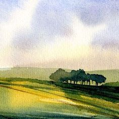 Small watercolor landscape #watercolorarts