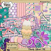 Candyland Kit by Digital Gator Designs
