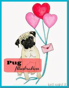 Pug Illustration - step by step photos with pattern included!