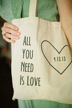 sweet custom bags your guests will definitely want to keep | Spindle Photography #wedding