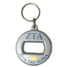 Zeta Tau Alpha Sorority Bottle Opener Keychain $4.99