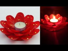 Diwali home decoration ideas/How to decorate diwali candles from plastic spoons/diya decoration idea/Candle holderMaking. Learn how to decorate diwali candle. Diya Decoration Ideas, Diwali Decoration Items, Wall Decorations, Plastic Spoon Crafts, Plastic Spoons, Plastic Bags, Diwali Candles, Diy Candles, Diwali Diy