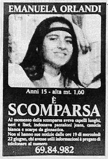 SCRIVOQUANDOVOGLIO: LA SCOMPARSA DI EMANUELA ORLANDI (22/06/1983)