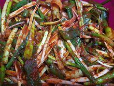 Cooking Recipes For Dinner, K Food, Asian Recipes, Ethnic Recipes, Food Plating, Kimchi, Korean Food, Japchae, Green Beans