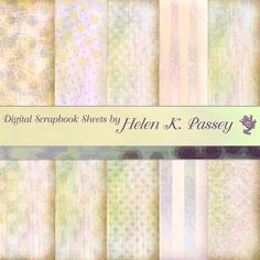 Digital Scrapbook Paper Pale Peach Set by VagrantAirs on Etsy
