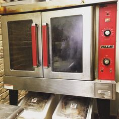 My hard working oven. I love that it's red.