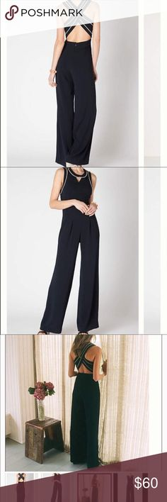 "Anthropologie  Corded Back Jumpsuit This nautical one-piece is trimmed in braided rope, pleated at the hip and fitted with a neckline porthole. By Cartonnier. Back zip Polyester; viscose lining Machine wash Flat high wait is 15"",  63""L; 33.5"" inseam No trades . Anthropologie Pants Jumpsuits & Rompers"