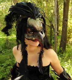 Huginn or Muninn  (Thought or Memory) raven mask