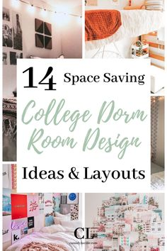 Here are 9 of the best dorm rooms for 2020 that you NEED to see. Plus, we added 5 dorm room essentials to help prepare you for freshmen year dorm life. #college #dorm Cozy Dorm Room, Dorm Room Storage, Dorm Room Walls, Dorm Room Organization, Cute Dorm Rooms, Dorm Room Necessities, Dorm Essentials, Cheap Dorm Decor, College Dorm Decorations