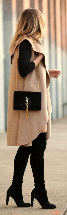 Camel And Black Outfit  ~ Street CHIC  Babz ιиѕριяαтισи