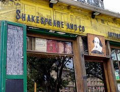 Shakespeare and Co, one of the only English bookshops in the city