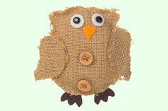 Owl Crafts For Kids - Jute Fabric Owl