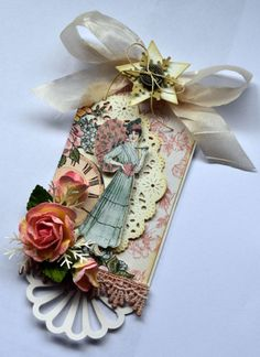 Love this A Ladies' Diary Tag by @Karen Shady from our Ning site! Gorgeous! #graphic45 #tags #ning