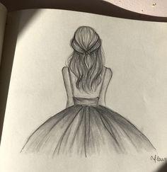 Zeichnung cute art drawings Gott Gott - Gott - - Art Cute Drawings Go # Easy Pencil Drawings, Girl Drawing Sketches, Girly Drawings, Art Drawings Sketches Simple, Drawing Ideas, Disney Drawings, Dancing Drawings, Pencil Sketch Art, Sketches Of Girls