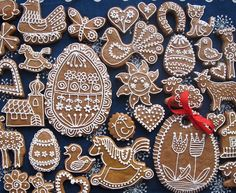 Easter gingerbread cookies Gingerbread Crafts, Gingerbread Cookies, Easter Cookies, Easter Treats, Cooking Cookies, Christmas Craft Projects, Czech Recipes, Incredible Edibles, Cookie Icing