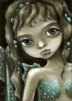 Little mermaid - fantasy painting by Tanya Bond