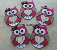 card making craft and Owl Crafts, Crafts For Kids, Arts And Crafts, Owl Ornament, Felt Ornaments, Christmas Crafts, Christmas Decorations, Shots Ideas, Magazine Crafts