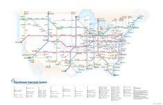Interstate Map as a Tube Map