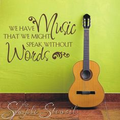 Decorate the walls of your music room or area at Home, School or Church with this inspirational music quote for your walls.