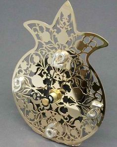 Desk Clock with Pomegranate design