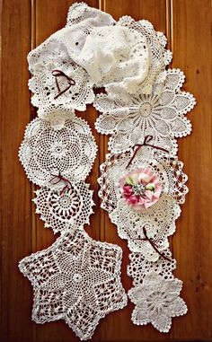 Doily Scarf .... Handmade with  by The Whimsy Wood....