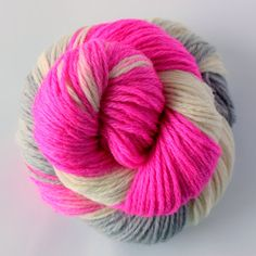 Hand Dyed Wool Yarn  Fuchsia Parkway by ChaleurHandDyedYarn