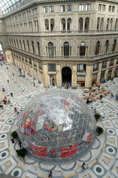 #Cupola geodetica con copertura Crystal @ #Napoli, #Italia #LerianSrl