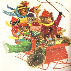 J.P. Miller's illustrations for Kathleen N. Daly's Jingle Bells (1964)