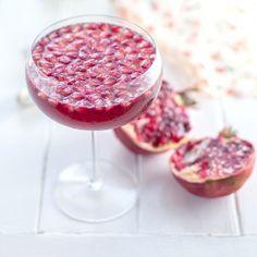 Pomegranate Prosecco Jellies [supergoldenbakes]