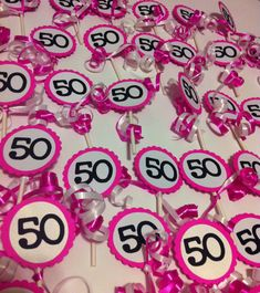 50 th Birthday Decorations Cupcake Toppers by FromBeths on Etsy, $10.00