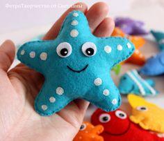 Магнитные морские обитатели из фетра. - Babyblog.ru