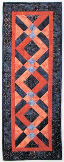 We love to create beauty with fabric and friends. Come visit our quilt store in Deer Lodge, Montana! Patchwork Table Runner, Table Runner And Placemats, Table Runner Pattern, Quilted Table Runners, Skinny Quilts, Halloween Table Runners, Small Quilts, Mini Quilts, Quilted Table Toppers