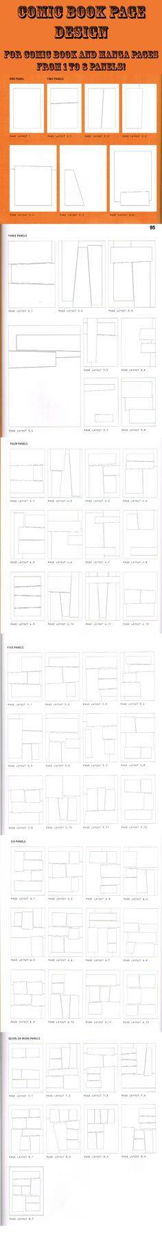 Layouts that are usable for both Comic books and Manga pages with anywhere from 1 to 8 panels.