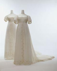 Dresses ca. 1804-1814 via The Costume Institute of the Metropolitan Museum of Art