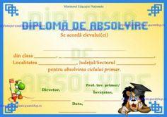 Diploma de absolvire - clasa a IV-a