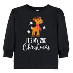 My Christmas Reindeer Childs Black Toddler Long Sleeve T-Shirt Christmas Gifts For Friends, Christmas Holidays, Toddler Outfits, Reindeer, Children, Kids, Sweatshirts, Long Sleeve, T Shirt