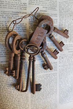 Rare Set of 9 Vintage Keys Old Rusty Skeleton Keys marqued S.T.A.M MUSSIDAN for 6 Keys. Mussidan is a commune in the Dordogne department in