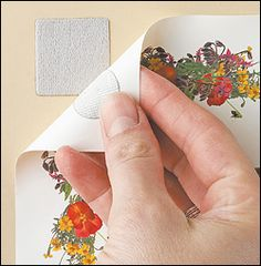Velcro attachments are ideal for hanging posters without marring the walls.