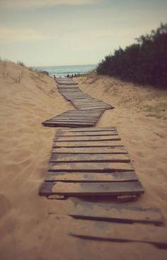 Camino a la playa