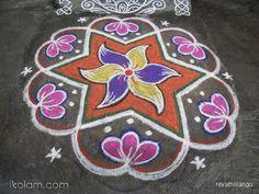 Rangoli 9 to 5 interlaced dots.: Rev's margazhi day 3 kolam. by revathiilango