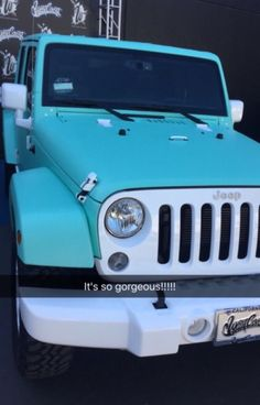 29 Ideas Cars Jeep Tiffany Blue The Effective Pictures We Offer You About cars ideas A quality picture can tell you many things. You can find th Auto Jeep, Jeep Jk, Jeep Truck, Dream Cars, My Dream Car, Ford Gt, Jeep Azul, Jeep Carros, Car Goals