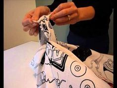 FUROSHIKI FOLDING INSTRUCTIONS ON youtube