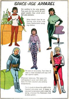 ... fashions lost in space!