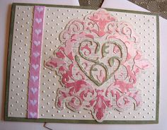 Cricut Valentine's Card or Anniversary Card. Damask Decor Cartridge.