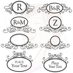 Hey, I found this really awesome Etsy listing at http://www.etsy.com/listing/110750384/monogram-digital-frames-clip-art-clip